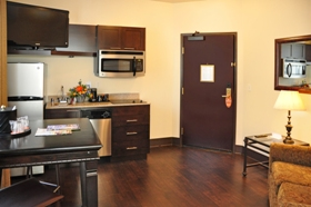 Oxford Suites suite kitchenette
